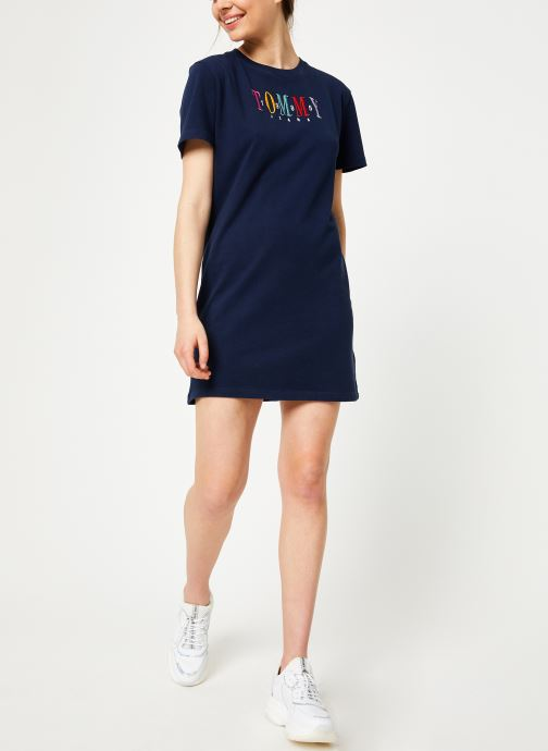 Vêtements Tommy Jeans TJW GRAPHIC TEE DRESS Bleu vue bas / vue portée sac