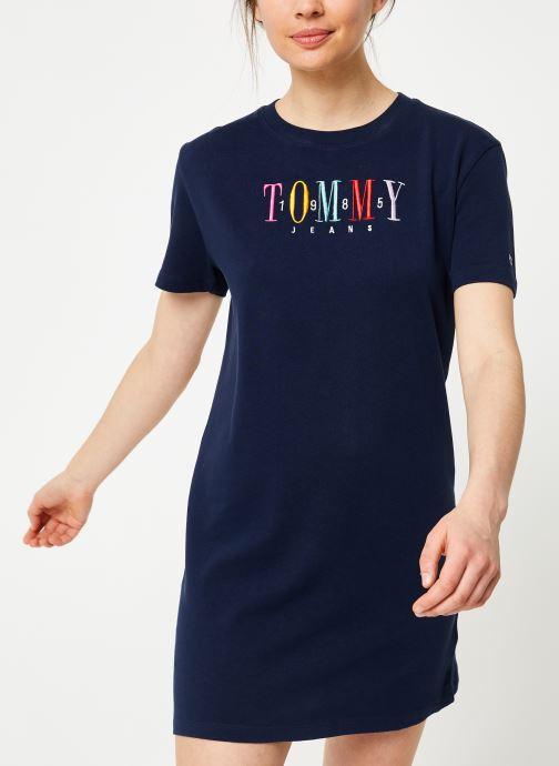 Vêtements Tommy Jeans TJW GRAPHIC TEE DRESS Bleu vue droite