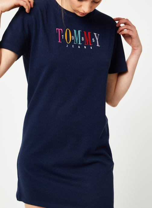 Vêtements Tommy Jeans TJW GRAPHIC TEE DRESS Bleu vue détail/paire