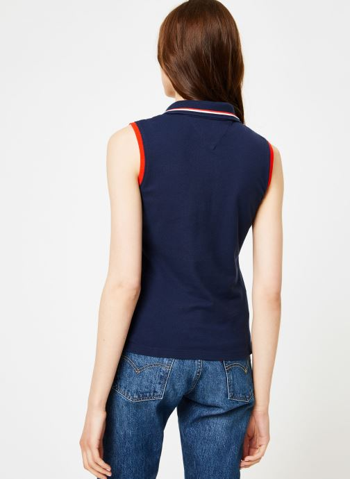 Kleding Tommy Jeans TJW SLEEVELESS POLO Blauw model