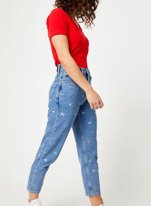 Vêtements Tommy Jeans TJW SHORTSLEEVE STRETCH TEE Rouge vue bas / vue portée sac