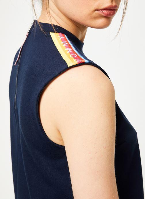 Vêtements Tommy Jeans TJW A-LINE SOLID TAPE DRESS Bleu vue face