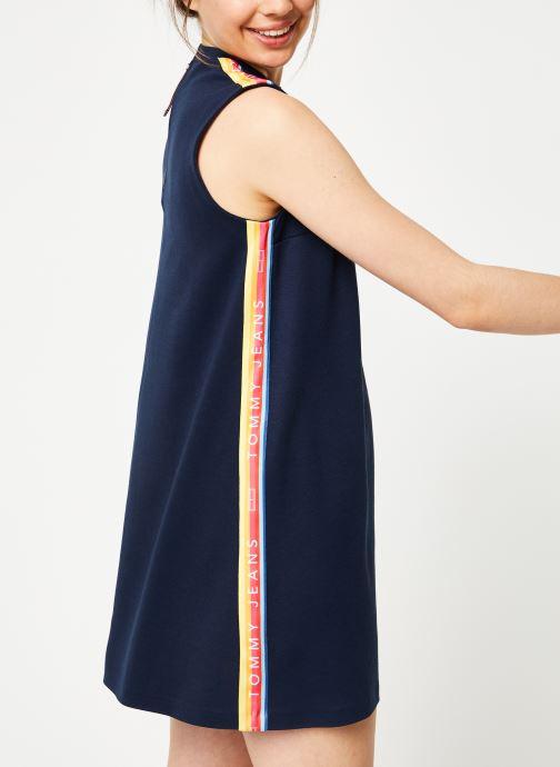 Vêtements Tommy Jeans TJW A-LINE SOLID TAPE DRESS Bleu vue droite