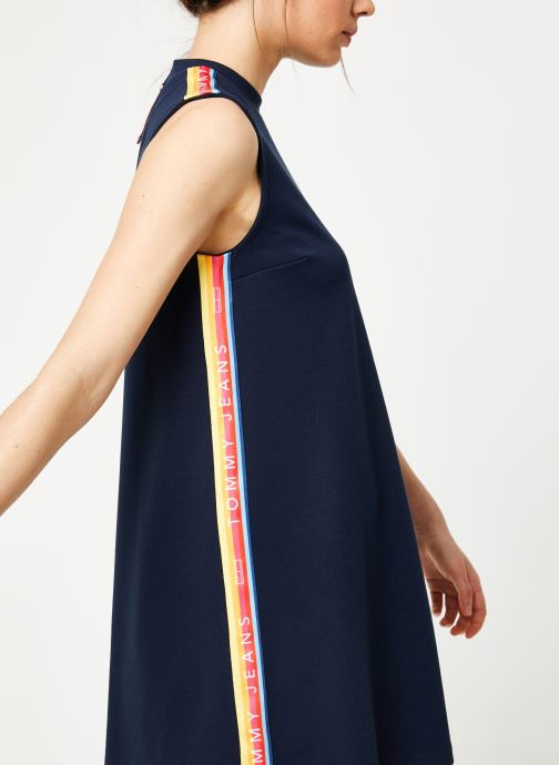 Vêtements Tommy Jeans TJW A-LINE SOLID TAPE DRESS Bleu vue détail/paire