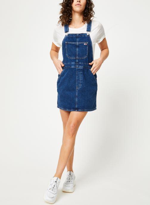 Vêtements Tommy Jeans CLASSIC DUNGAREE DRESS Bleu vue bas / vue portée sac