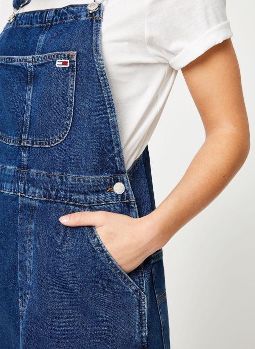 Vêtements Tommy Jeans CLASSIC DUNGAREE DRESS Bleu vue face