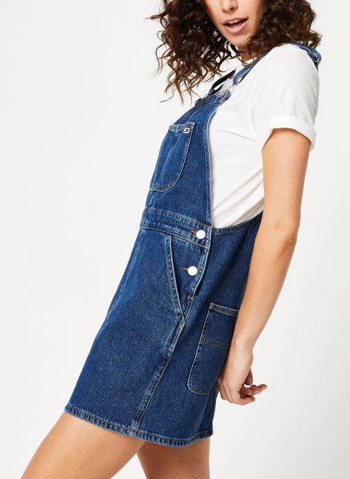 Vêtements Tommy Jeans CLASSIC DUNGAREE DRESS Bleu vue droite