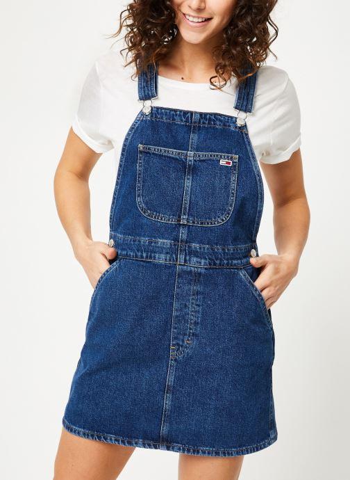 Vêtements Tommy Jeans CLASSIC DUNGAREE DRESS Bleu vue détail/paire