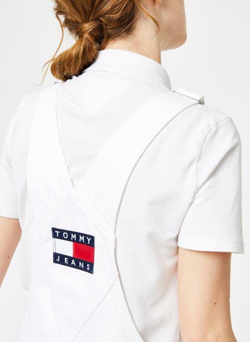 Vêtements Tommy Jeans CLASSIC DUNGAREE DRESS Blanc vue face