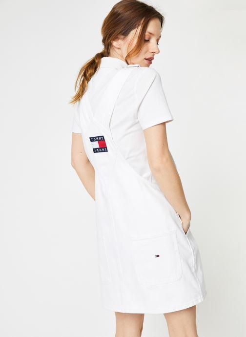 Vêtements Tommy Jeans CLASSIC DUNGAREE DRESS Blanc vue détail/paire