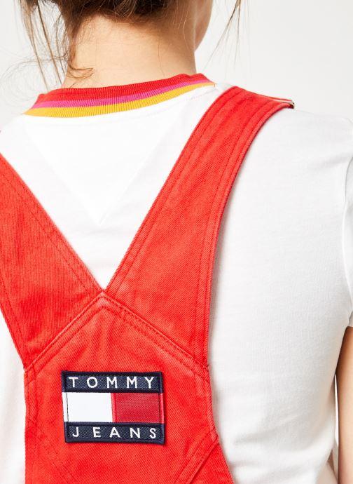 Vêtements Tommy Jeans CLASSIC DUNGAREE DRESS Rouge vue face