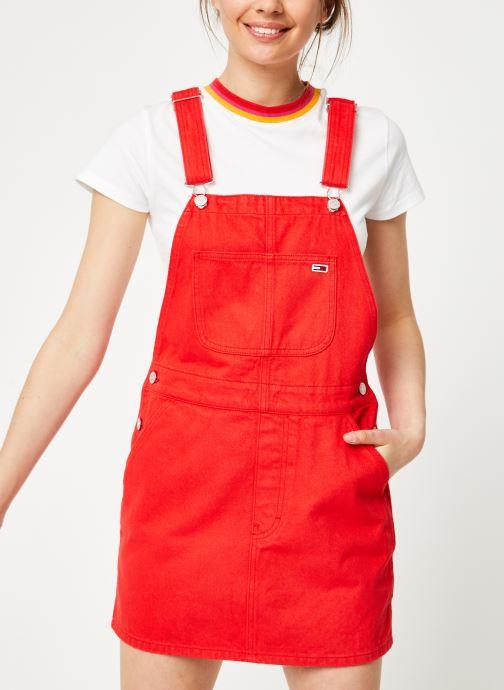 Vêtements Tommy Jeans CLASSIC DUNGAREE DRESS Rouge vue détail/paire