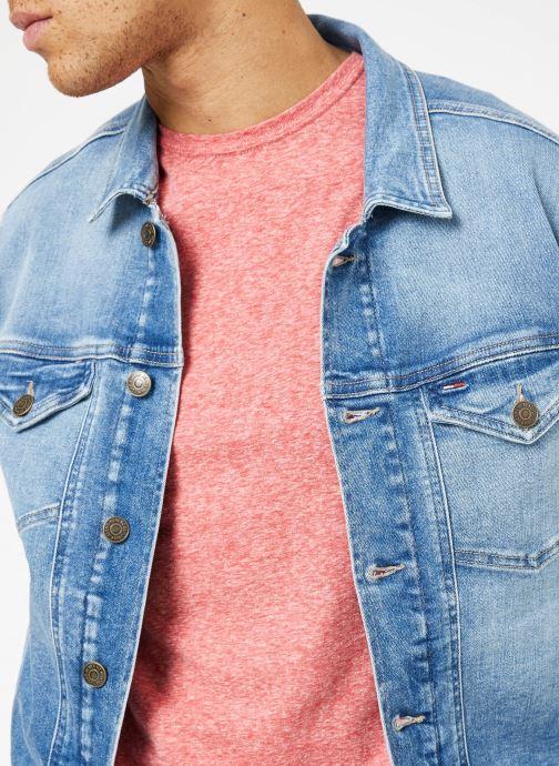 Vêtements Tommy Jeans REGULAR TRUCKER JACKET Bleu vue face