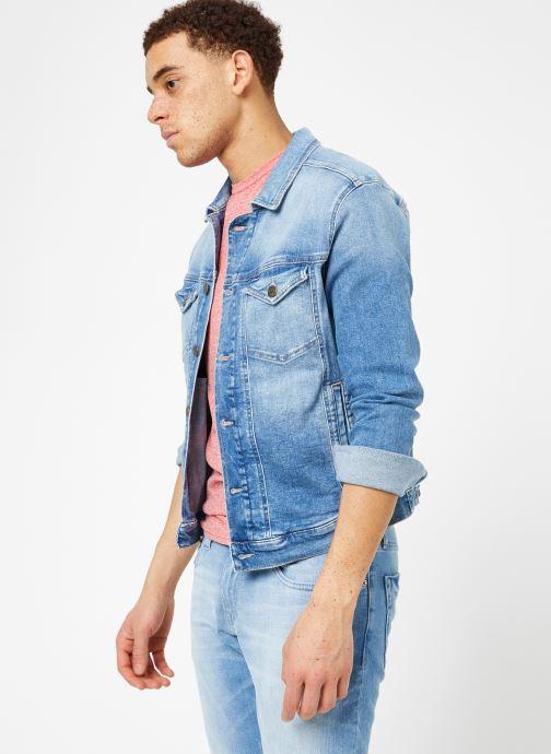 Vêtements Tommy Jeans REGULAR TRUCKER JACKET Bleu vue droite