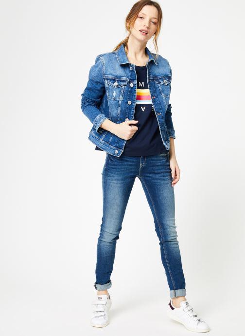 Vêtements Tommy Jeans SLIM TRUCKER VIVIAN Bleu vue bas / vue portée sac