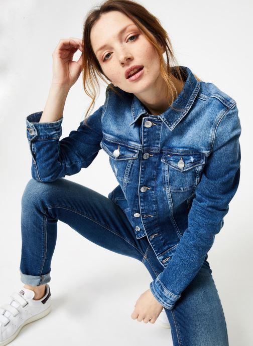 Vêtements Tommy Jeans SLIM TRUCKER VIVIAN Bleu vue détail/paire