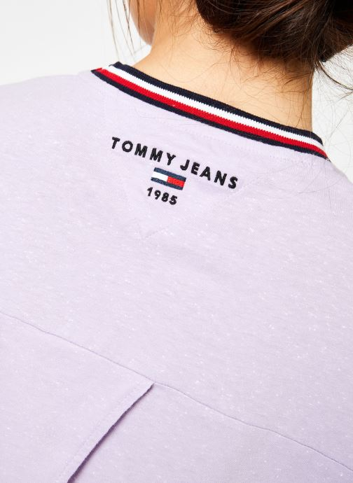 Vêtements Tommy Jeans TJW BACK DETAIL TEE Violet vue face