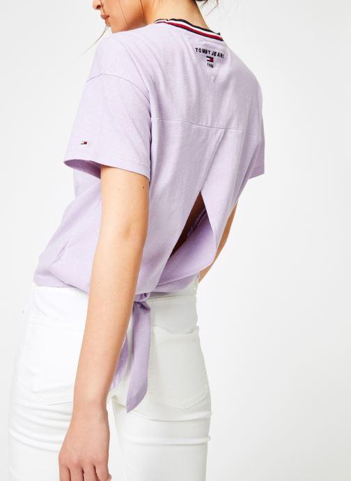 Vêtements Tommy Jeans TJW BACK DETAIL TEE Violet vue détail/paire