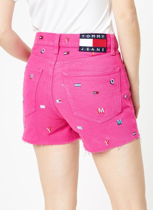 Kleding Tommy Jeans HOTPANT DENIM SHORT Roze model