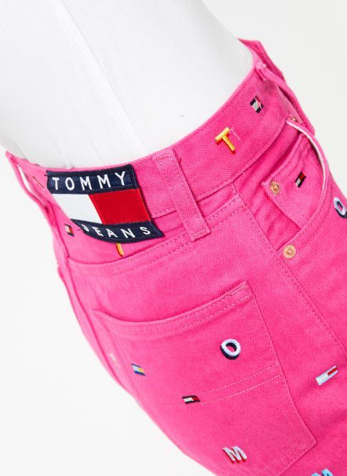 Kleding Tommy Jeans HOTPANT DENIM SHORT Roze voorkant