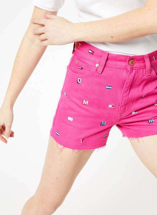Kleding Tommy Jeans HOTPANT DENIM SHORT Roze detail