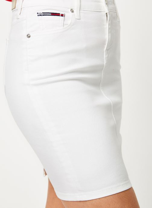 Vêtements Tommy Jeans REGULAR DENIM SKIRT Blanc vue face