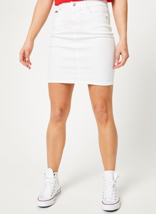 Vêtements Tommy Jeans REGULAR DENIM SKIRT Blanc vue détail/paire