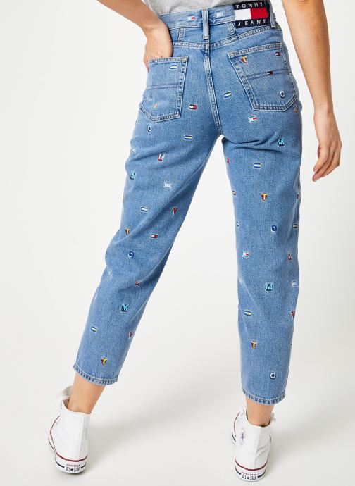 Kleding Tommy Jeans HIGH RISE TAPERED TJ 2004 Blauw detail