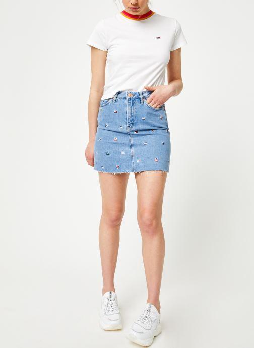 Vêtements Tommy Jeans SHORT DENIM SKIRT Bleu vue bas / vue portée sac