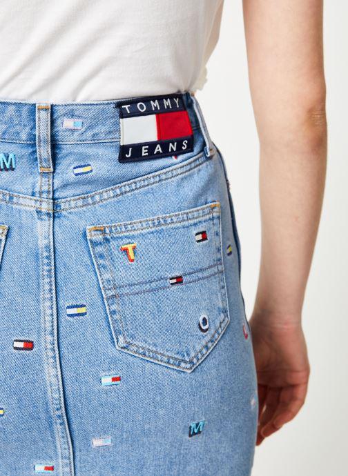 Vêtements Tommy Jeans SHORT DENIM SKIRT Bleu vue face