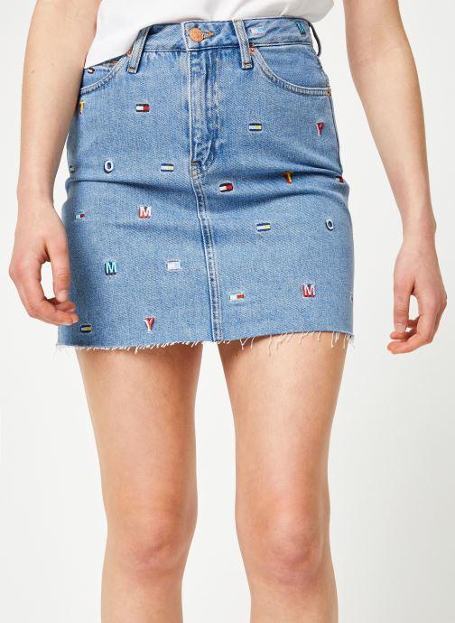Vêtements Tommy Jeans SHORT DENIM SKIRT Bleu vue détail/paire