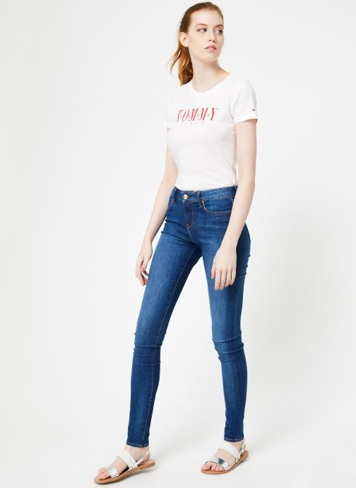 Kleding Tommy Jeans TJW CASUAL TOMMY TEE Wit onder
