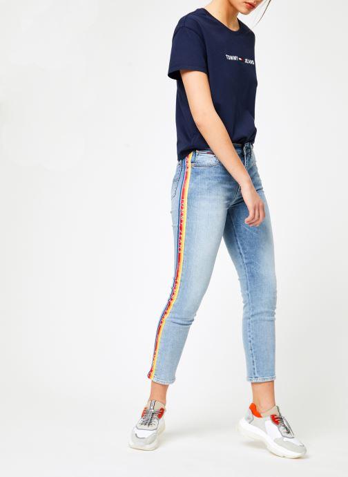 Kleding Tommy Jeans HIGH RISE SLIM IZZY Blauw onder