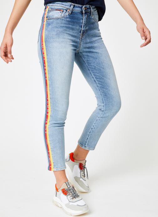 Kleding Tommy Jeans HIGH RISE SLIM IZZY Blauw detail