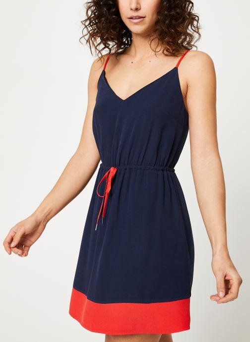 Vêtements Tommy Jeans TJW ESSENTIAL STRAP DRESS Bleu vue droite