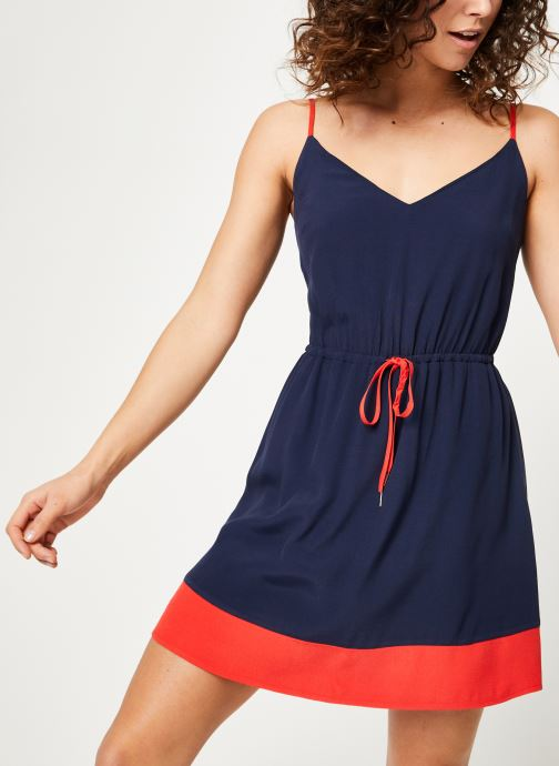Vêtements Tommy Jeans TJW ESSENTIAL STRAP DRESS Bleu vue détail/paire