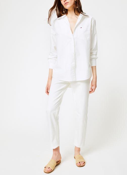 Vêtements Tommy Jeans TJW TOMMY CLASSICS SHIRT Blanc vue bas / vue portée sac