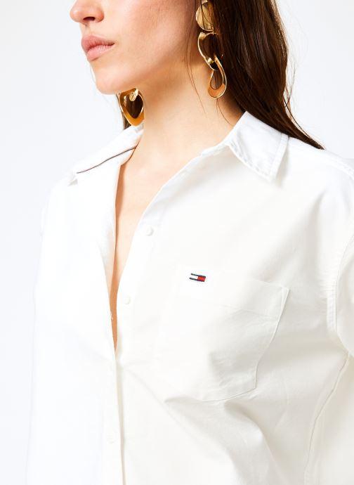 Vêtements Tommy Jeans TJW TOMMY CLASSICS SHIRT Blanc vue face