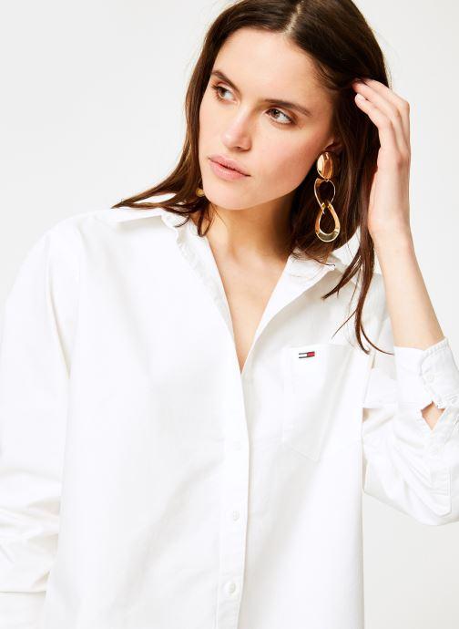 Vêtements Tommy Jeans TJW TOMMY CLASSICS SHIRT Blanc vue détail/paire