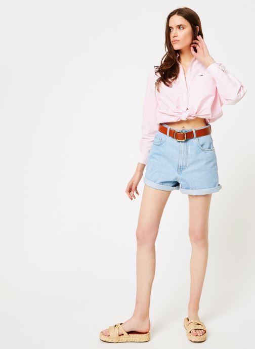 Vêtements Tommy Jeans TOMMY CLASSICS SHIRT Rose vue bas / vue portée sac