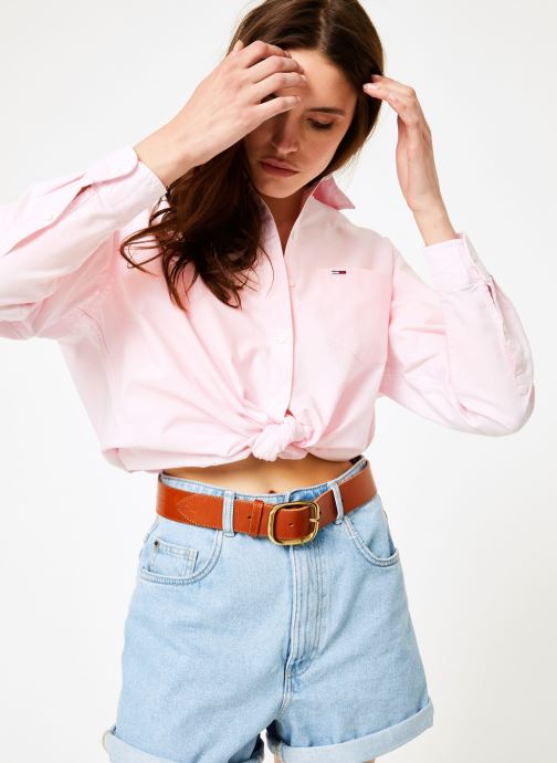 Vêtements Tommy Jeans TOMMY CLASSICS SHIRT Rose vue détail/paire