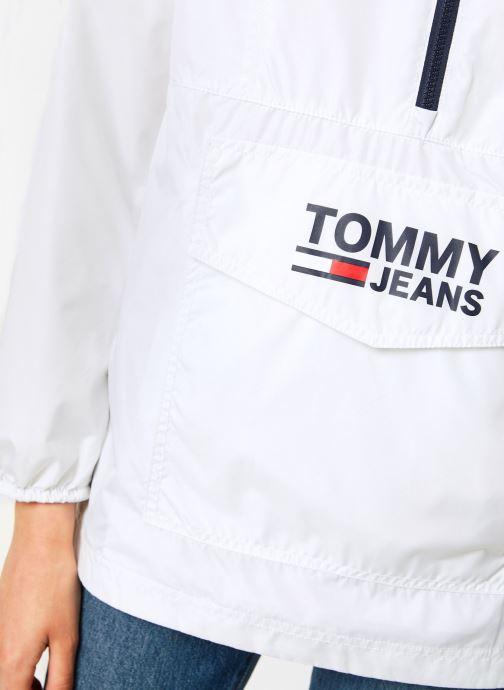 Vêtements Tommy Jeans TJW TOMMY POPOVER ANORAK Blanc vue face
