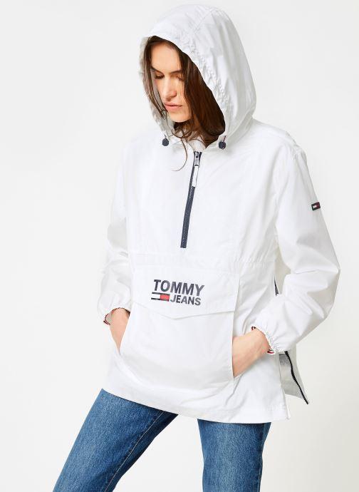Vêtements Tommy Jeans TJW TOMMY POPOVER ANORAK Blanc vue droite