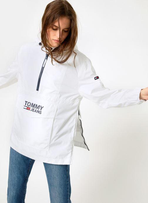 Vêtements Tommy Jeans TJW TOMMY POPOVER ANORAK Blanc vue détail/paire