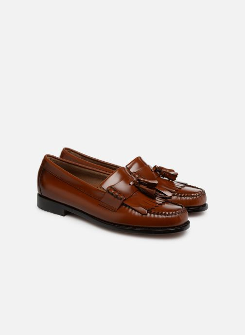 Loafers G.H. Bass Weejun Layton II Moc Kiltie Brown 3/4 view
