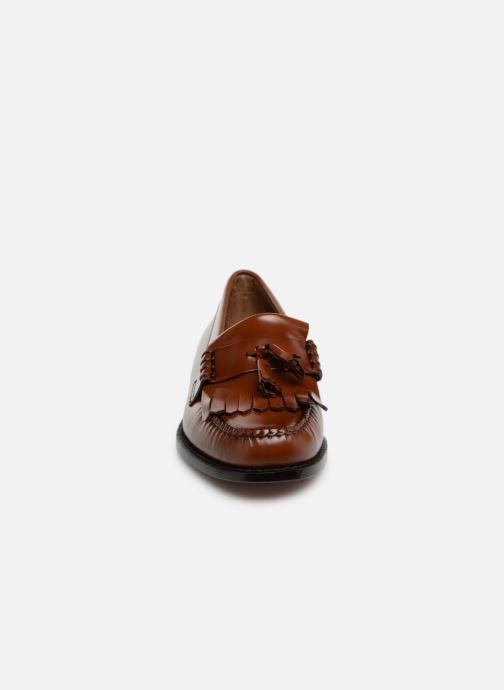 Mocassins G.H. Bass Weejun Layton II Moc Kiltie Marron vue portées chaussures