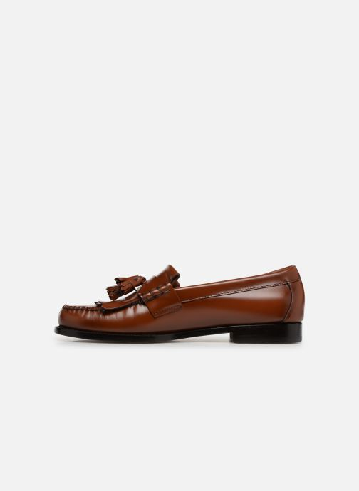 Loafers G.H. Bass Weejun Layton II Moc Kiltie Brown front view