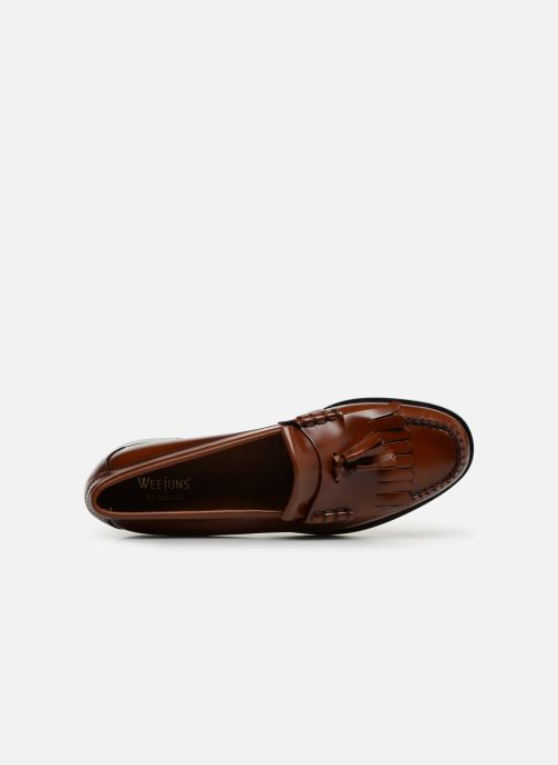Loafers G.H. Bass Weejun Layton II Moc Kiltie Brown view from the left