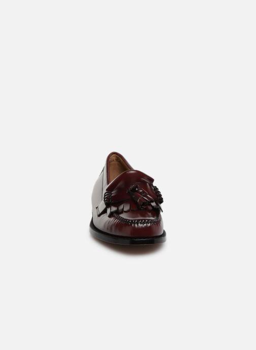 Loafers G.H. Bass Weejun Layton II Moc Kiltie Vinröd bild av skorna på