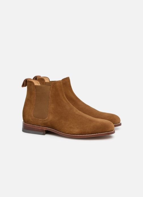 Ankle boots G.H. Bass Monogram Chelsea II Suede Brown 3/4 view